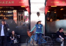 2010 City of Sydney Cycling ambassador Nell rides a Schwinn around NYC